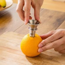 Portable Size Stainless Steel Manual Lemon Squeezer