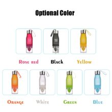 Portable Juicer Plastic Cup Manual 650ml Water Bottle