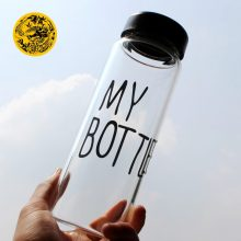 Water Bottles With Protective Bag Transparent or Matte Heat resistant Leakproof
