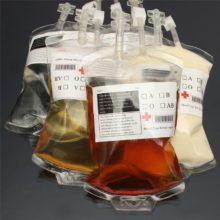 300ml Blood Juice Energy Drink Bag Halloween event Party Supplies Pouch Props Vampires Reusable Package Bags Funny