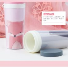 Randomly send  300ML Cartoon Animals Water Bottle Plastic With Rope Leak-proof My Cute Bottle For Water Portable Drinking Kettle